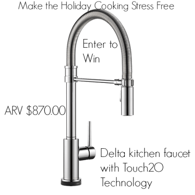Just in Time for the Holidays- Win a Delta kitchen faucet with Touch2O Technology!