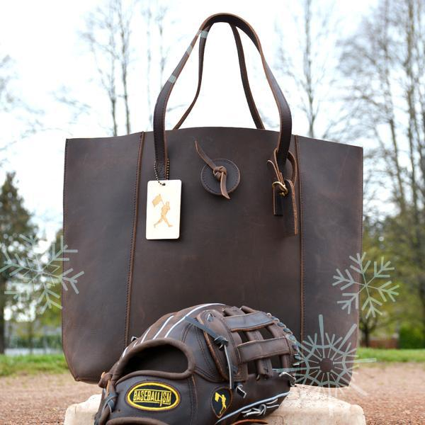 baseball, leather bags