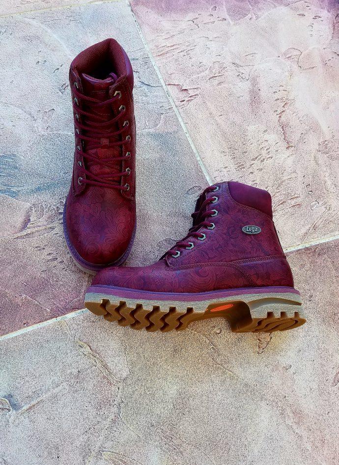 Lugz Women Empire HI boots in Black Cherie - Lace up