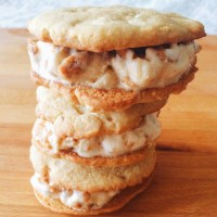 White Chocolate Macadamia Nut Brittle Ice Cream Sandwiches