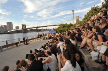 Monday (7pm): Books Beneath the Bridge. Listen as Rock and Roll Hall of Fame bassist Dennis Dunaway reads from his memoir Snakes! Guillotines! and Electric Chairs! at Brooklyn Bridge Park
