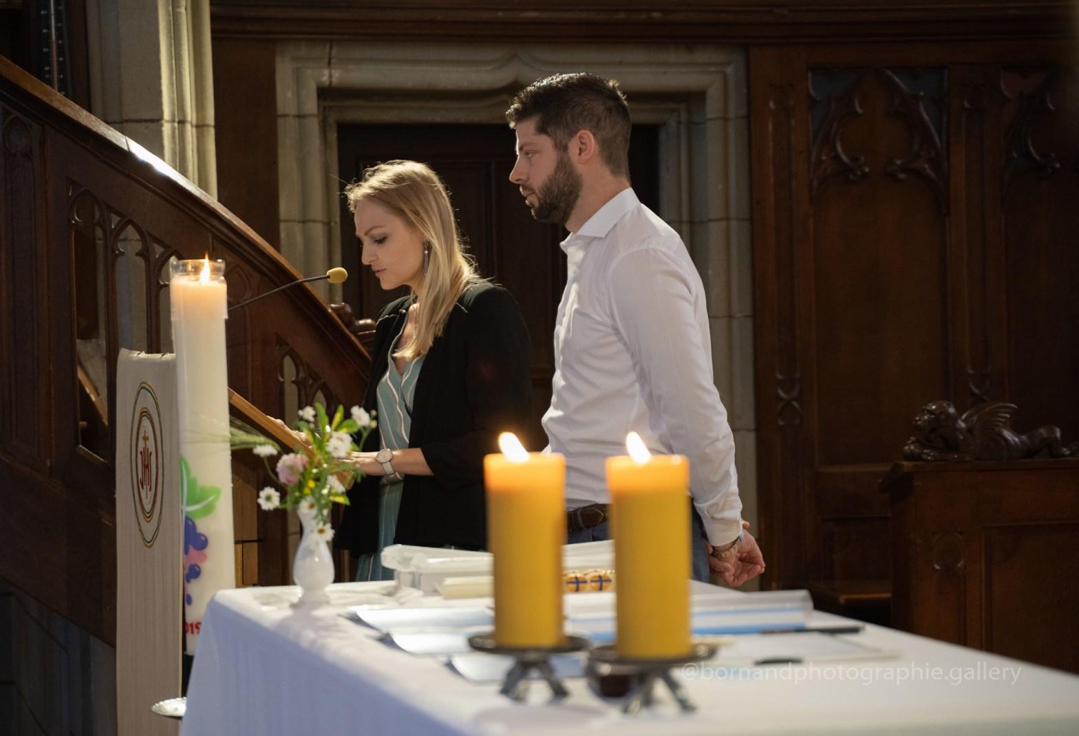 Les témoins de baptême à l'église