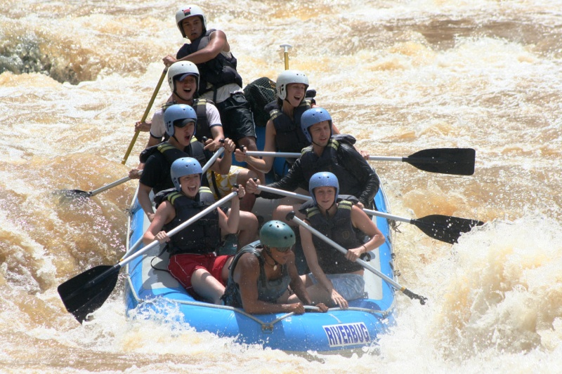 Rafting on the Padas River in Sabah, Malaysia