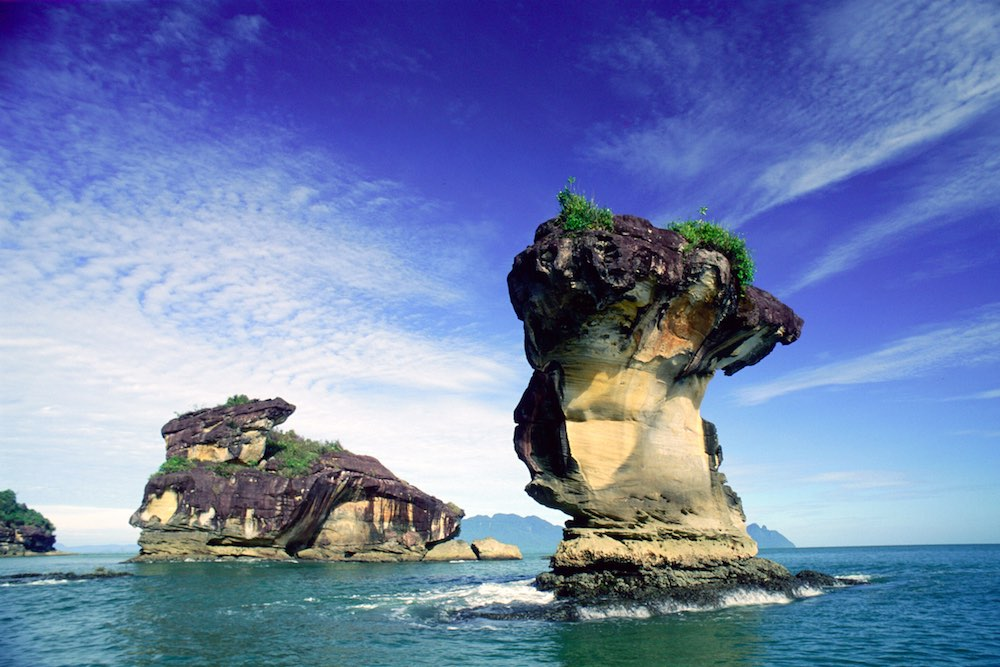 bako national park sea stack