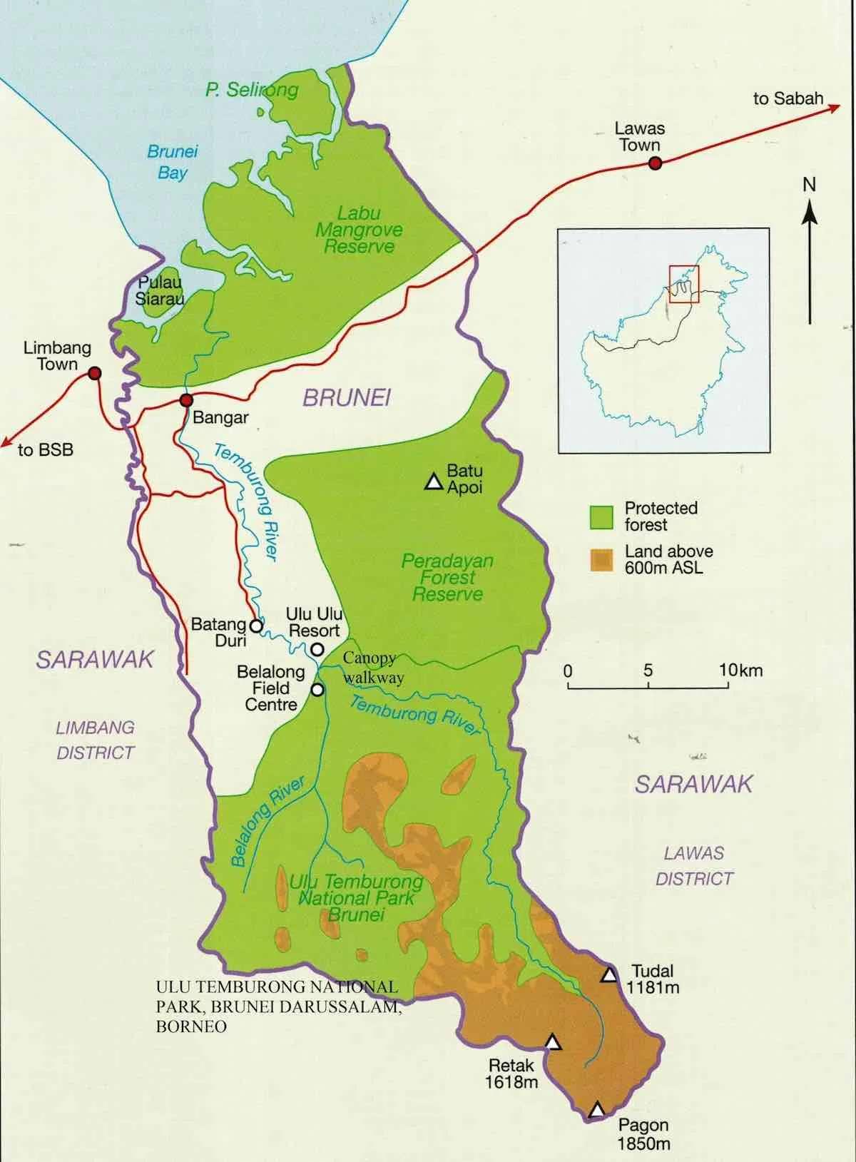 Map of Ulu Temburong