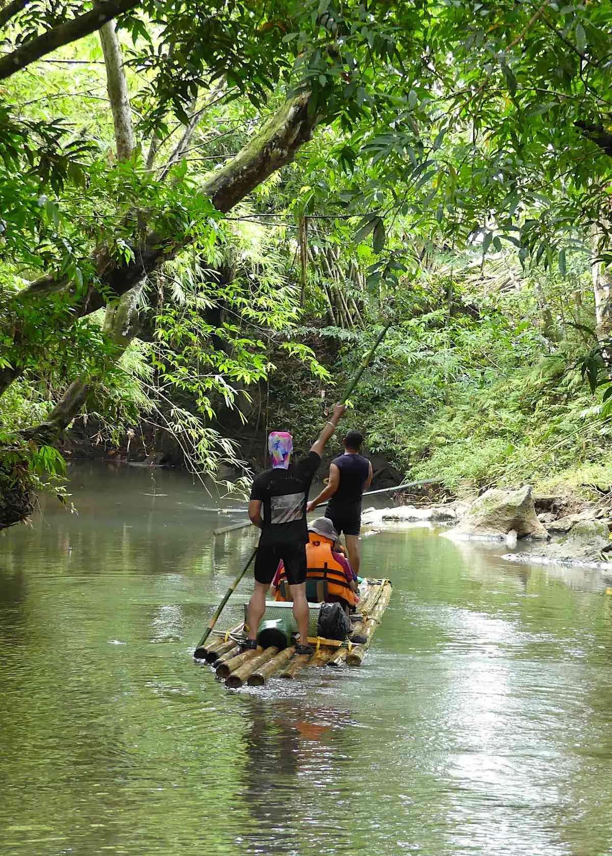 bamboo rafting kuching
