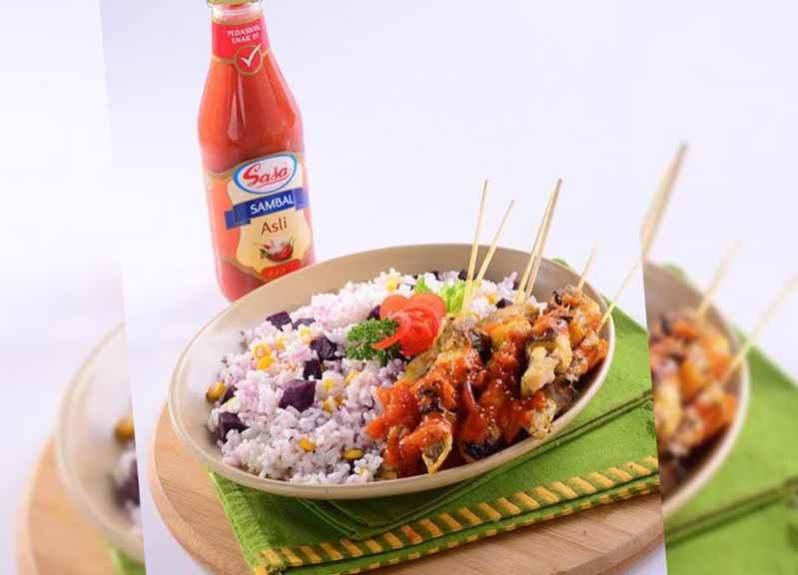 makanan tradisional sate ikan pari khas kalimantan utara