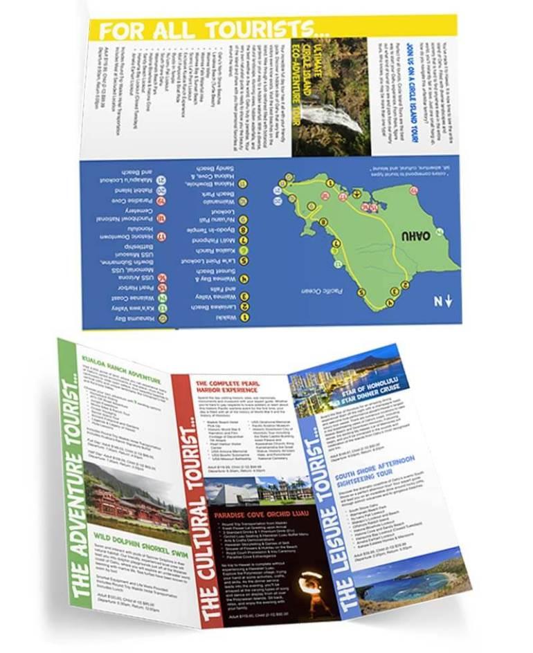 contoh brosur travel