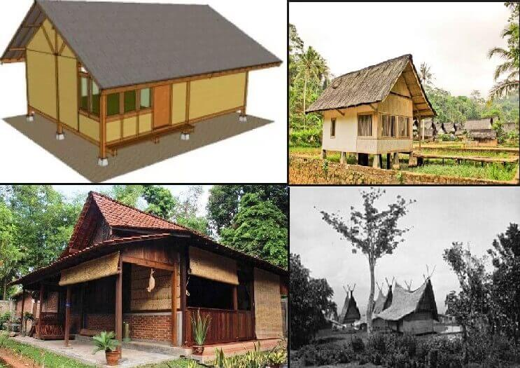 21 gambar sketsa rumah adat sunda
