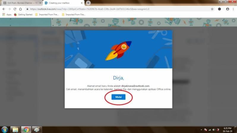 Mendaftar Email Hotmail di PC