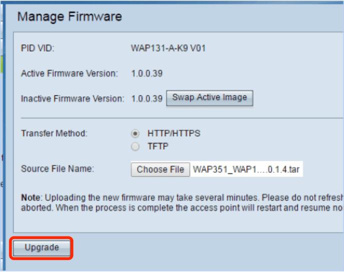 Upgrade Frimware