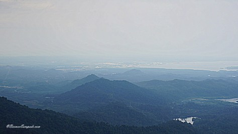 Looking at Lahad Datu Town from the Tower Of Heaven