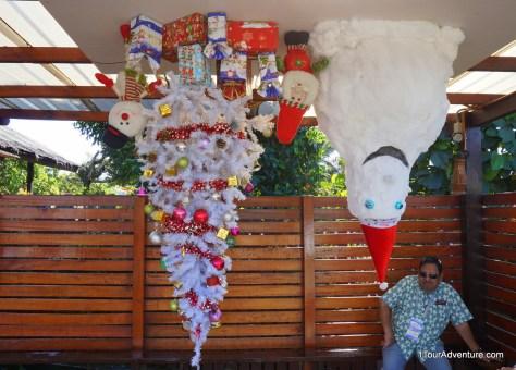 Upside down Christmas decorative