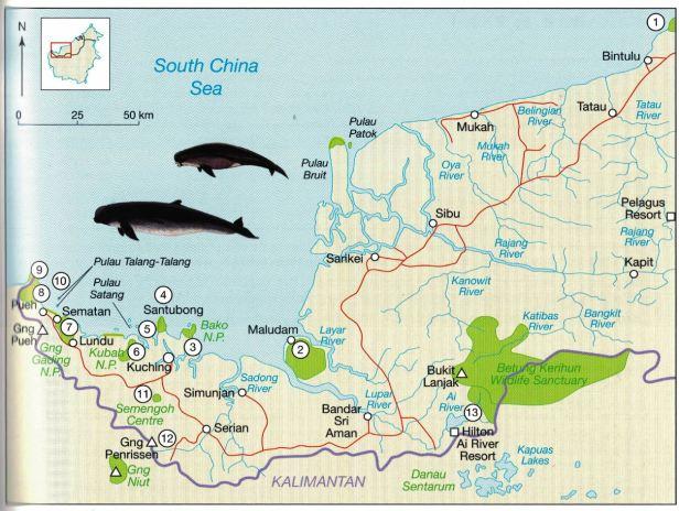 Kuching Sarawak map