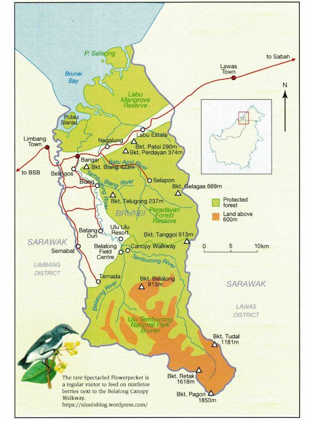 Temburong, Brunei MAP