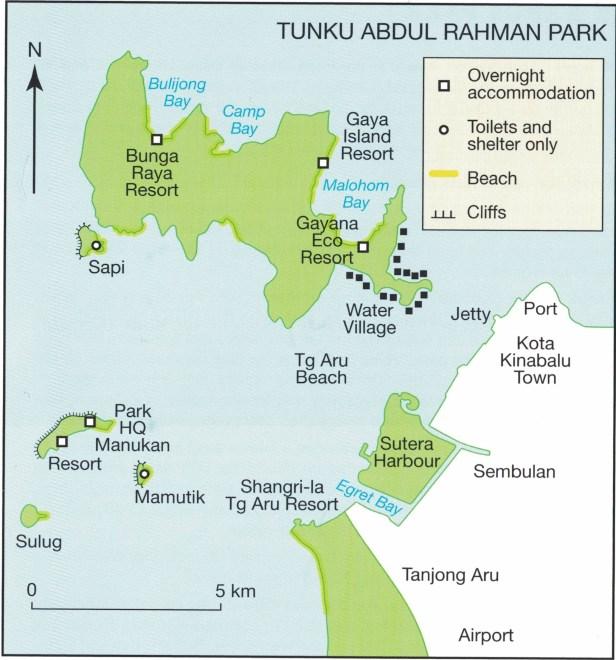 Pulau Gaya MAP