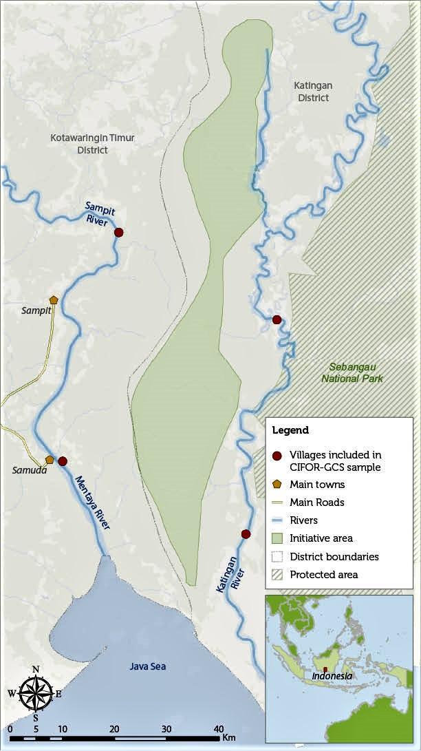 Katingan Map