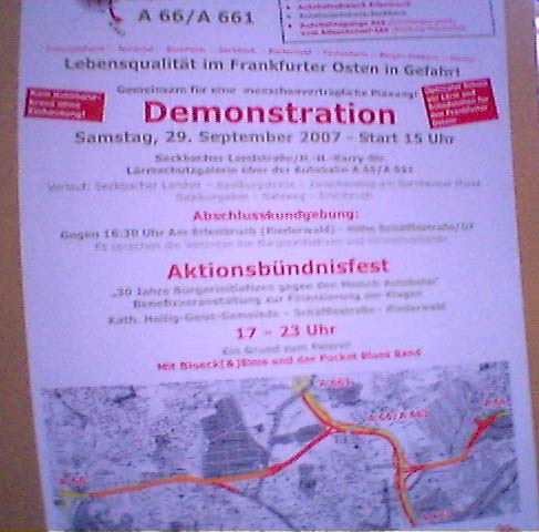 Demonstration gegen die Autobahn-Spange in Bornheim