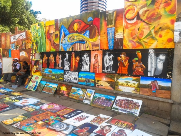 Art collections from the 'Artthrush Kenya Fine Arts Studio and Training Centre'