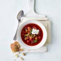 Nordisk rødbedesuppe med oksekød