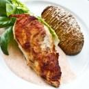 Kyllingebryst med hasselback kartofler