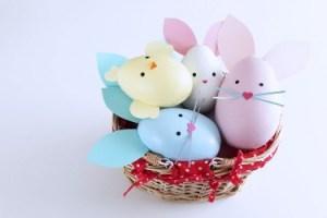 Kreative idéer til påskepynt, malede æg.