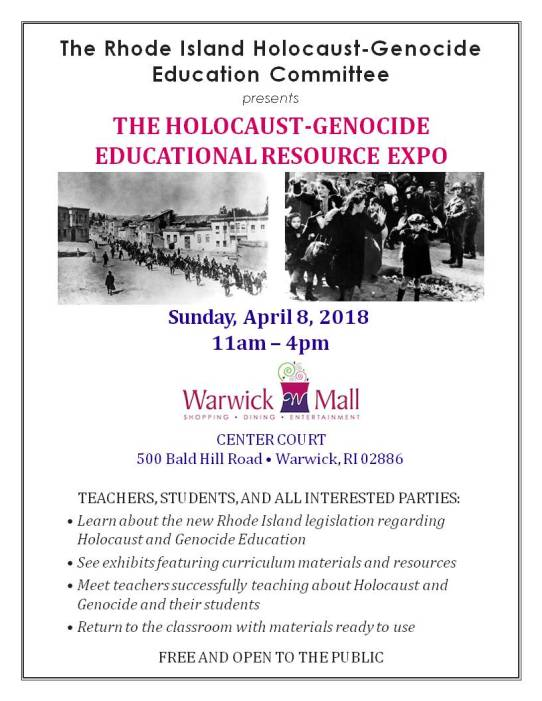 Holocaust-Genocide Education Expo Flyer (3)