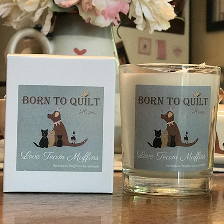 Bougie LOVE TEAM MUFFINS de BORN TO QUILT