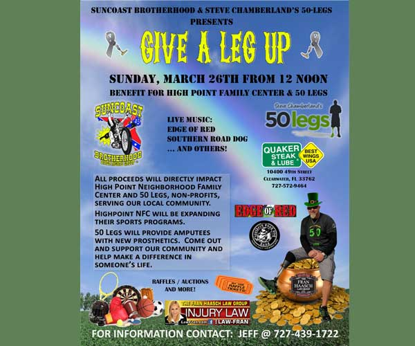 Give a Leg Up Benefit for High Point Family Center & 50 Legs
