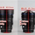 LAOWA 15mm F4.5 Zero-D Shift レンズキャップあり・なし