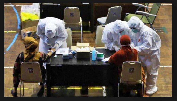 RDTNEWS: Pelaksanaan Rapidt Test (RDT) massal bagi pengunjung indogrosir (12/5/2020)-(foto: istimewa)