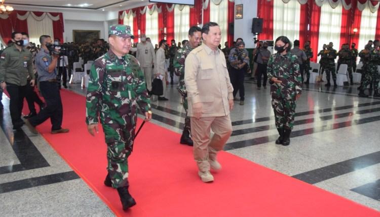 Menteri Pertahanan Prabowo Subianto berkunjung ke Magelang (3/7/2020)-(Foto: Istimewa)