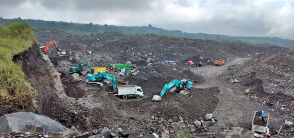 Kawasan tambang dibawah kawasan TNGM (16/10/2020)-(Foto: istimewa)