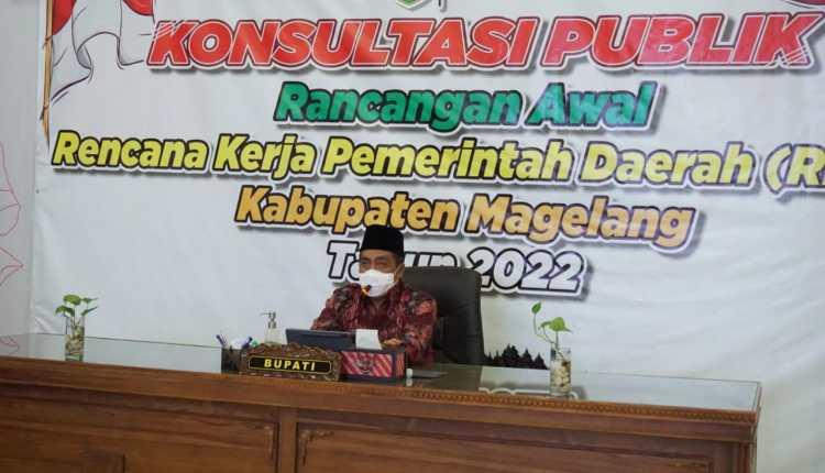 Konsultasi Publik unntuk fokus RKPD Kabupaten Magelang Tahun 2022 (14/1/2021)