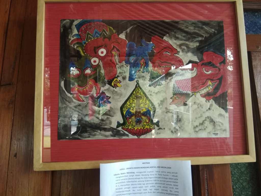 salah satu lukisan Ki Hango Munandar tentang wayang