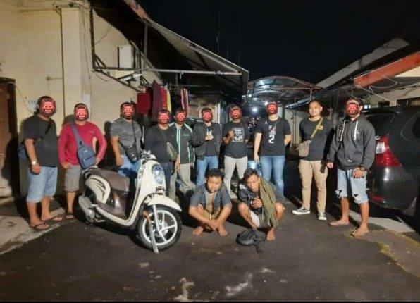 RESIDIVIS: Dua begal motor di Sleman berhasil tertangkap di Temanggung. (foto: ist)