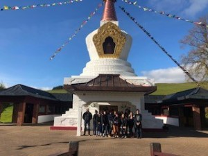 S5/6 Pupils exploring Samye Ling, a Buddhist temple in the Scottish Borders.
