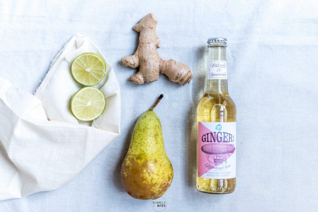 peer gember limoen ginger ale spritzer