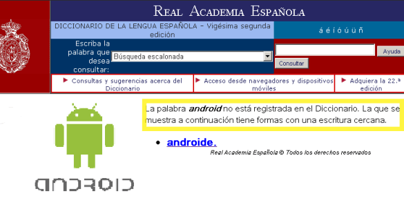 Pronunciación de android