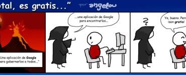 Tira cómica sobre privacidad Google