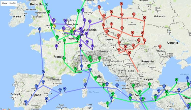 redes troposcatter en Europa