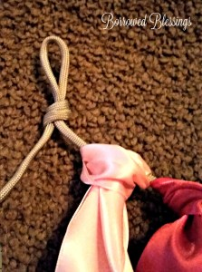 DIY Satin Ribbon Garland Banner Tutorial - BorrowedBlessings.net