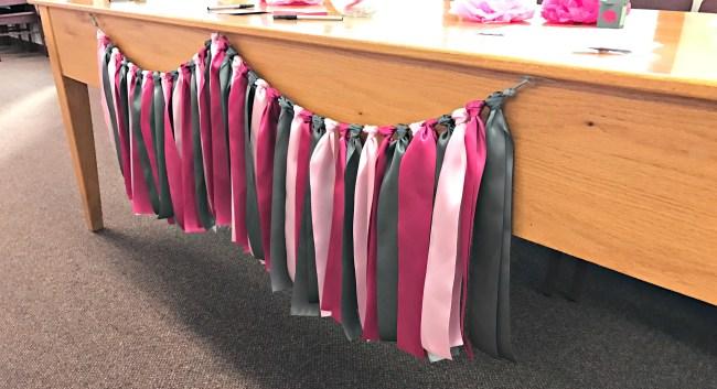 DIY Satin Ribbon Garland Tutorial - BorrowedBlessings.net
