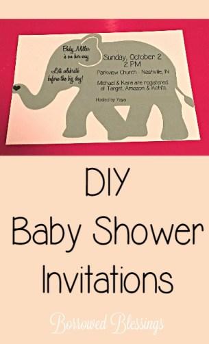 DIY Baby Shower Invitations - BorrowedBlessings.net