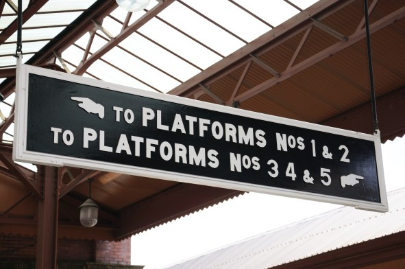 Platforms sign, Moor Street Railway Station, Birmingham