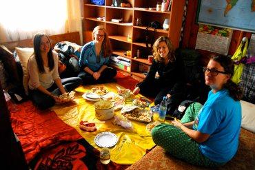 indoor picnic of left overs