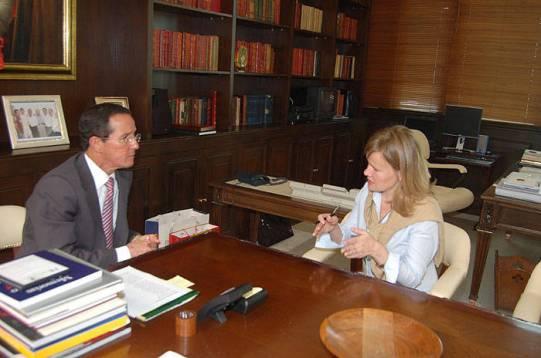 intervju utenriksminister colombia