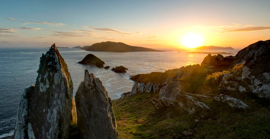 View of Blasket Islands in Kerry
