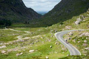 winding road in Ireland