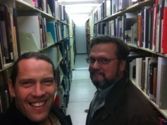 With Mark Osterman in very rare books part of the library.